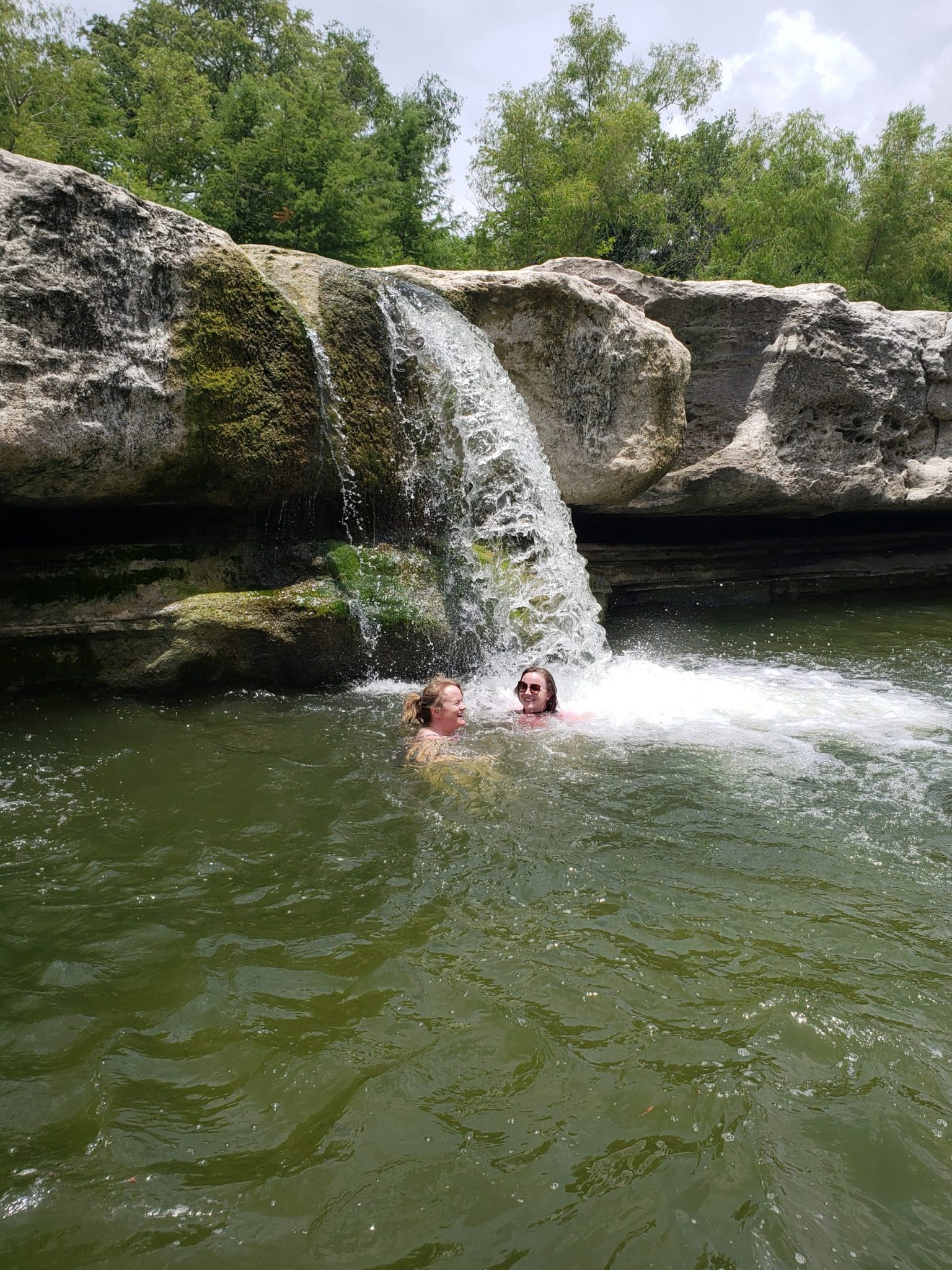 swimming at McKinney Falls State Park